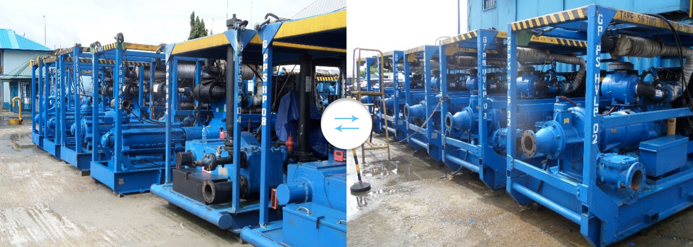Some of GPPS Fleet of High Volume Multistage Pumps and High Volume Lift Pump