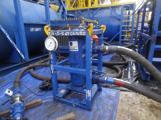 GPPS Filtration Unit performing Chemical Cleaning on Client's system Offshore
