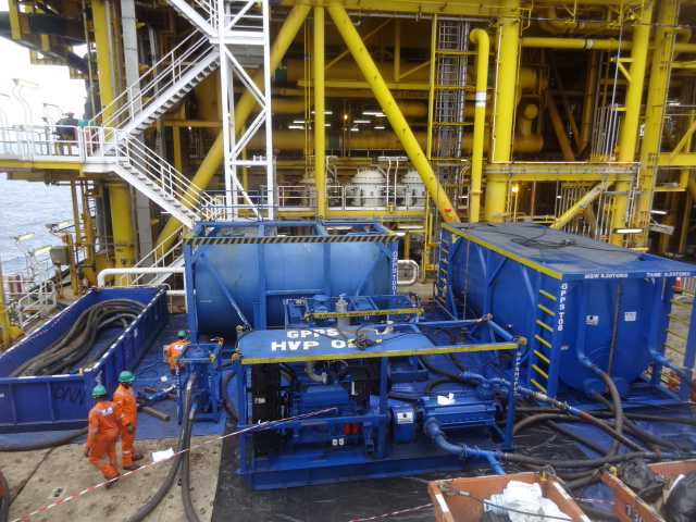 GPPS performing Chemical cleaning of Crude Oil Heaters on Client's FPSO