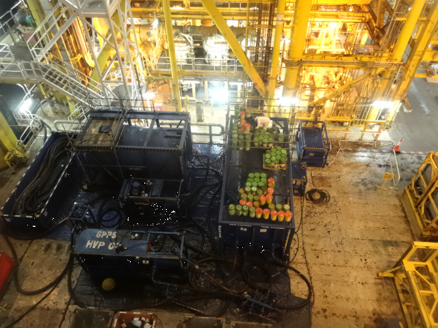 GPPS Chemical Cleaning Equipment set up on Client's location on FPSO