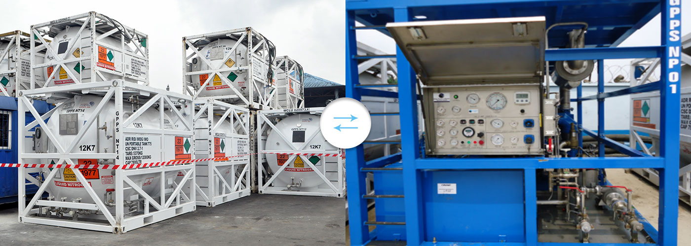 Dewatering/Drying Services – Nitrogen Pump, Air Dryers and High Volume Air Compressors.