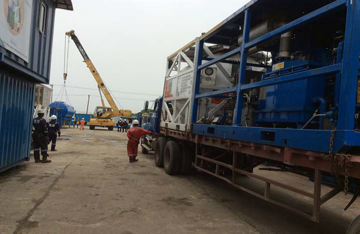 Nitrogen Pumping Equipment being loaded out
