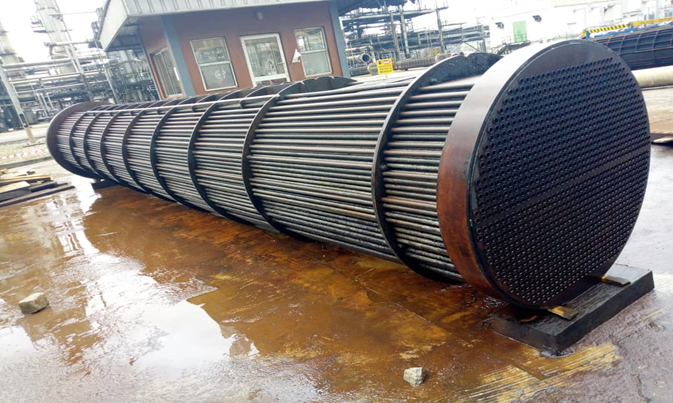 Heat Exchanger Bundle at a refinery - After GPPS Cleaning